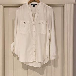 Nine West white blouse size M